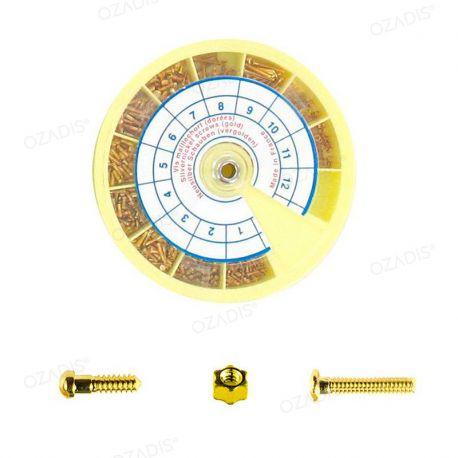 Gold nickel screws and nuts