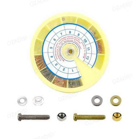 Components for pierced lens mounting