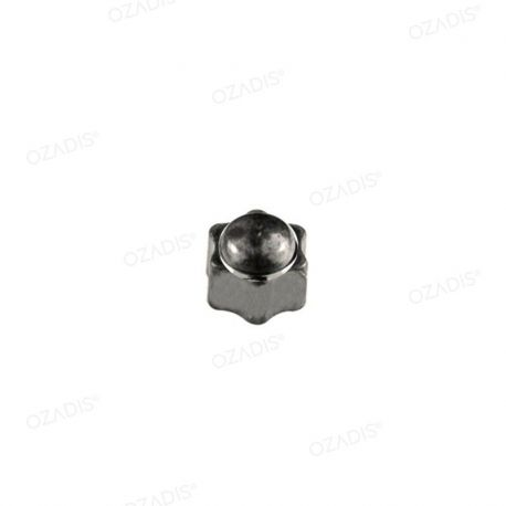 Star cap nuts - Silver