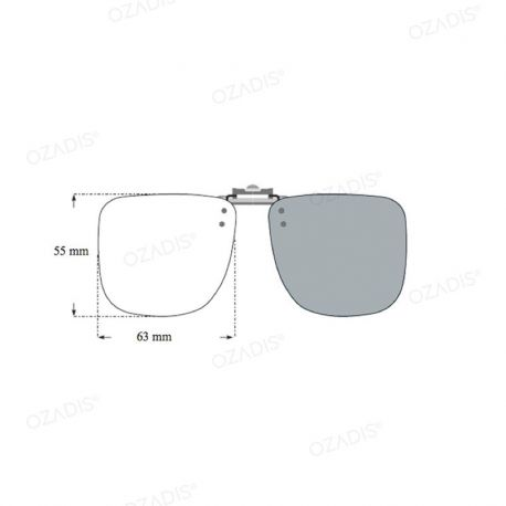 Flip-on sun clip 55 x 63mm