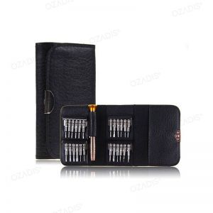 Pocket set of precision screwdrivers