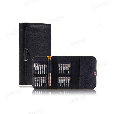 Pocket set of precision screwdrivers